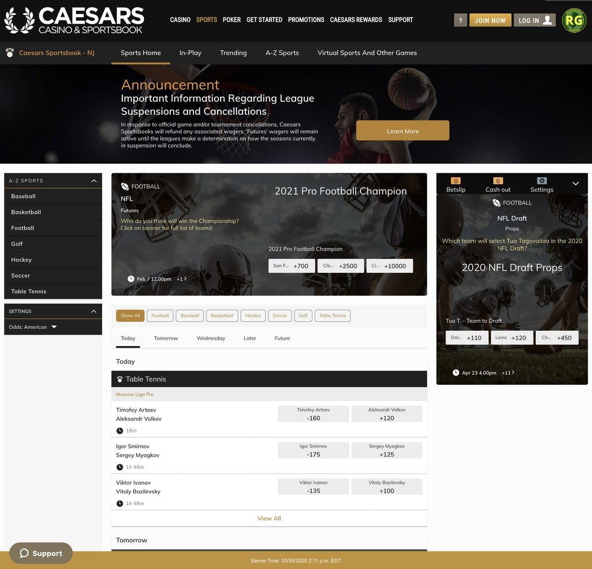 Caesars Online Casino Customer Service